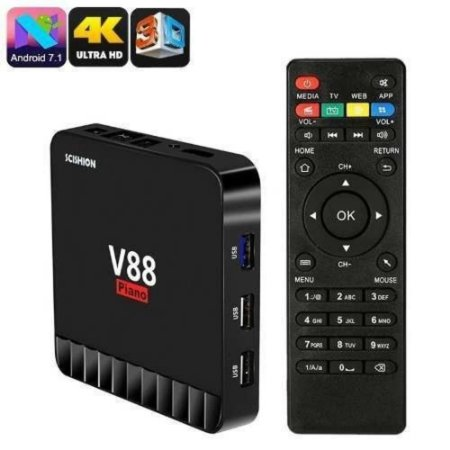 Tv Box 4 Gigas de Memoria Ram V88 Piano 16gb Emmc 4k Android
