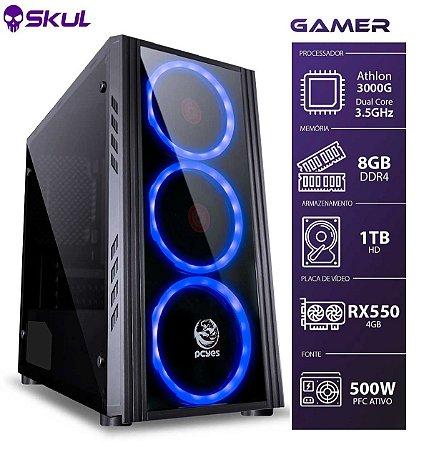 COMPUTADOR GAMER 1000 - ATHLON 3000G 3.5GHZ MEM. 8GB DDR4 HD