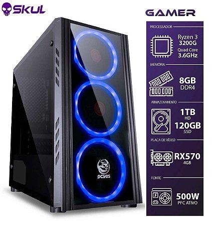 COMPUTADOR GAMER 3000 - RYZEN 3 3200G 3.6GHZ MEM. 8GB DDR4 S