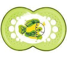 Chupeta Mam Clear Verde Peixe (6m+) Mam Baby