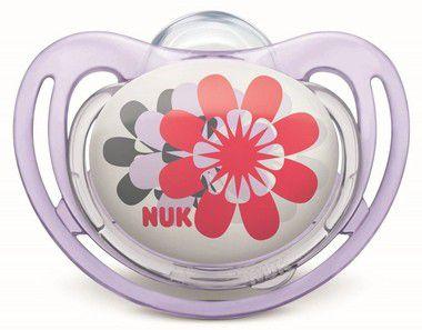 Chupeta Freestyle Girl Flor Tam.1 (0 à 6 meses) NUK