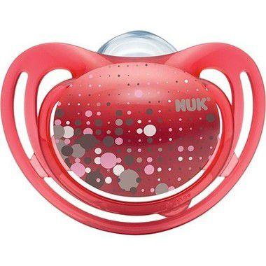 Chupeta Freestyle Girl Vermelho Tam.1 (0 à 6 meses) NUK