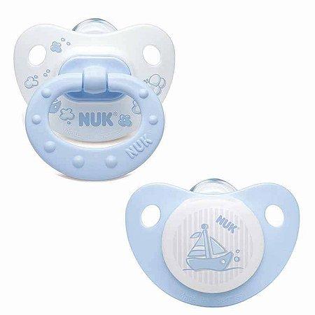 Kit com 2 Chupetas Fashion Azul Tam.2 (6 à 18 meses) NUK