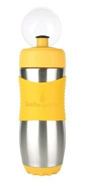 Garrafinha Inox Safe Sporter Amarelo 475ml Kid Basix