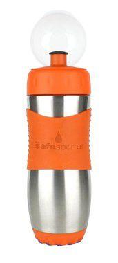 Garrafinha Inox Safe Sporter Laranja 475ml Kid Basix
