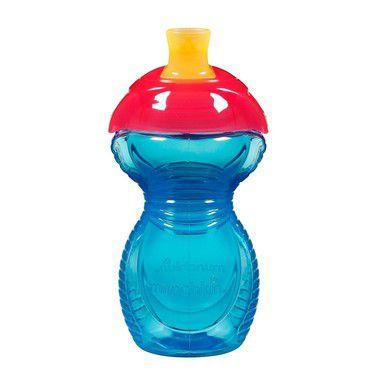 Copo com Bico Click Lock Azul e Vermelho Munchkin