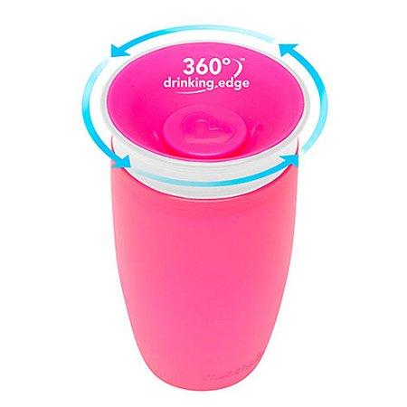 Copo Grande 360° Rosa 296ml Munchkin
