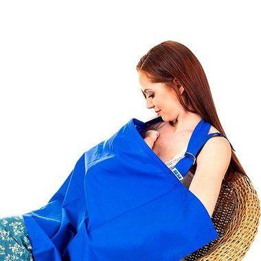 Capa para Amamentação Azul Kababy
