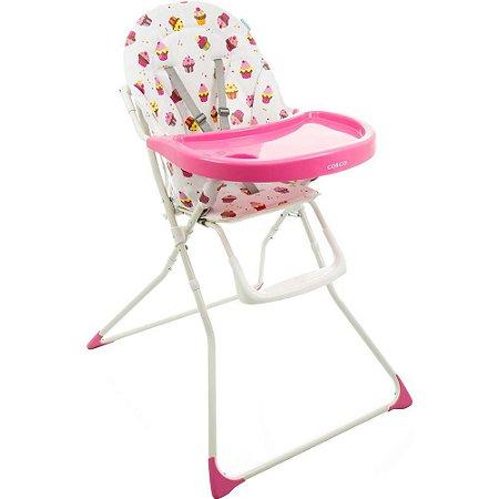 Cadeira para Refeição Banquet Rosa Cupcake Cosco
