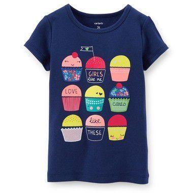 Camiseta Azul Cupcake Carter's