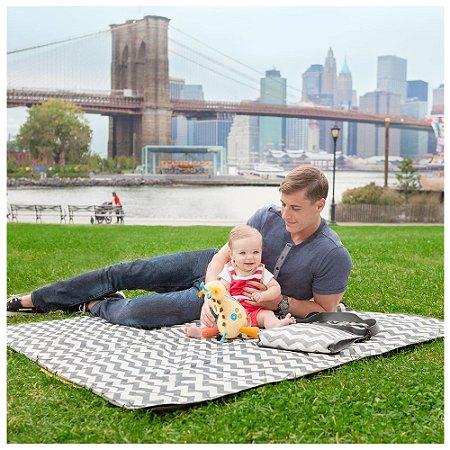 Tapete de Passeio com Bolsa para Bebê Central Park Chevron - Skip Hop