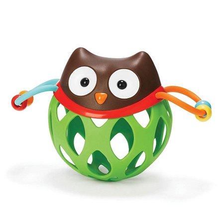 Chocalho com Mordedor para Bebê Roll Around Coruja - Skip Hop