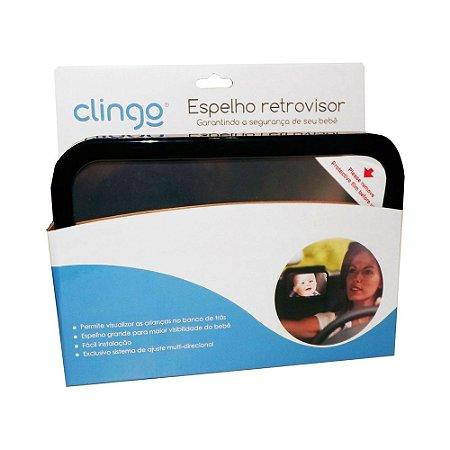 Espelho Retrovisor Retangular Square Para Carro - Clingo