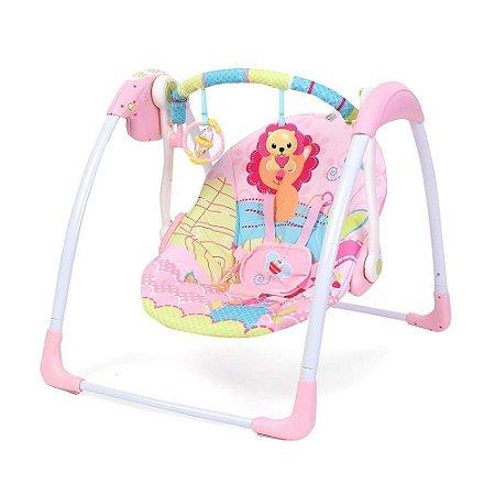 Cadeira de Balanço Automática Com Timer Rosa Leão - Mastela