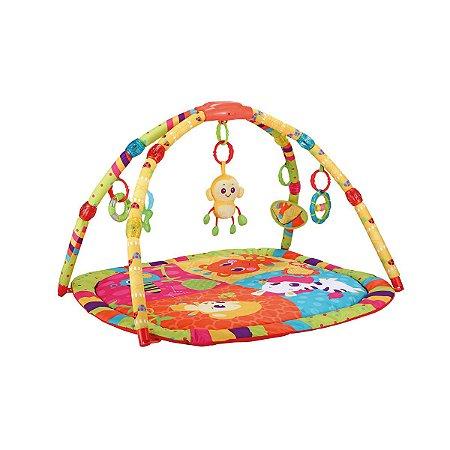 Tapete de Atividades Infantil Musical Colorido Macaco - Weeler