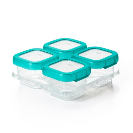 Conjunto de Potes para Armazenar Alimentos do Bebê Azul (4 x 120ml) - Oxo Tot