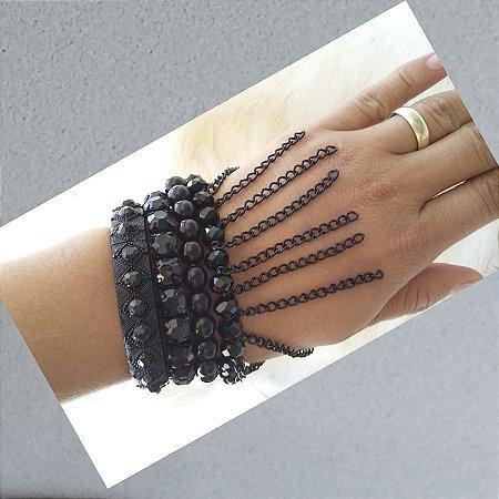 pulseira brilhante conjunto super tendencia
