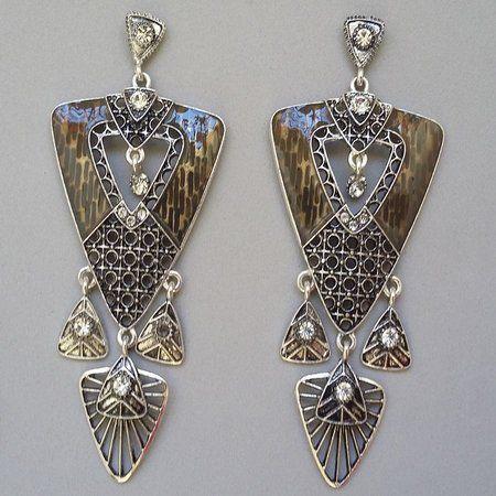 Acessórios Da Moda Brinco metal detalhe em strass