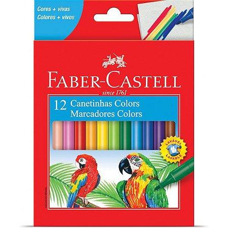 Caneta hidrografica Prestocolor Regular 12cores - Faber-Castell