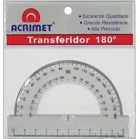 Transferidor Poliestireno 180 Graus - Acrimet