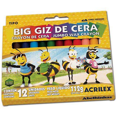 Lápis de cera (Big) 12 Cores - Acrilex