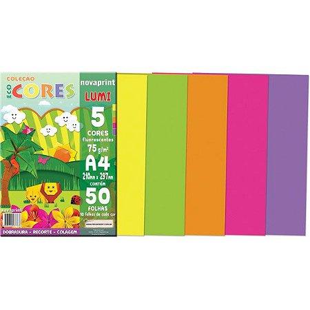 Bloco para educacao artistica Lumi A4 5cor.75g.50f.210x297mm - Novaprint