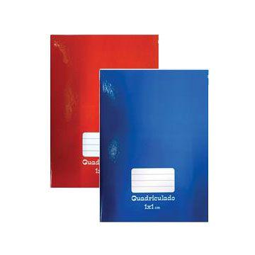 Caderno quadriculado 1x1cm 48f Brochurão Capa Dura - Tamoio