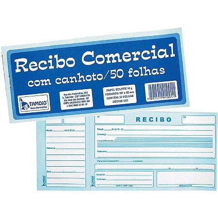 Talão de Recibo Comercial Com Canhoto 50f - Tamoio