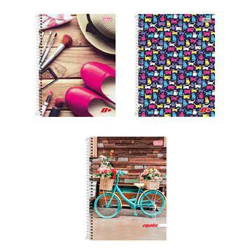 Caderno 12 matérias  (capa dura) Feminino 240 Folhas - Tilibra