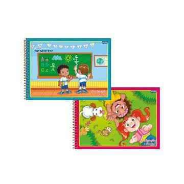 Caderno para desenho (capa dura) Jandainha 96fls. Espiral - Jandaia