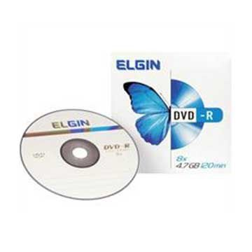 DVD gravável Dvd-R 4,7gb/120min/16x Envelop - Elgin