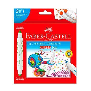 Caneta hidrografica Super Duo 10 Cores 2 Pontas - Faber-Castell