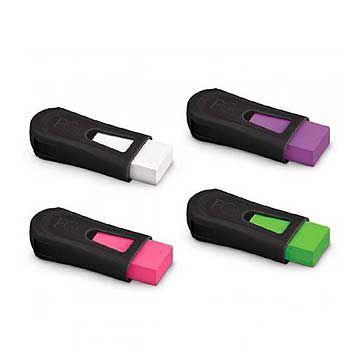 Apontador c/ Borracha colorida Fc Mix Black Neon - Faber-Castell