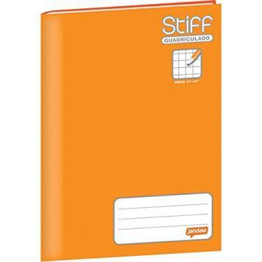 Caderno quadriculado brochurão 1x1cm 96f Laranja CD - Jandaia