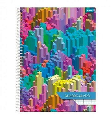 Caderno quadriculado (universitário) 1x1cm 96fls. Espiral CD - Foroni