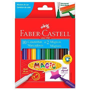 Caneta hidrografica Magic 10 Cores+2 - Faber-Castell