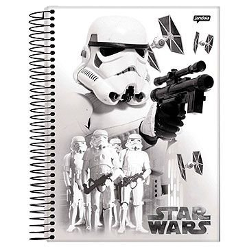 Caderno 12 matérias Star Wars C1 espiral univ. CD 240Fls - Jandaia
