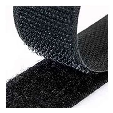 Velcro 25mm largura x 1m Macho E Fêmea Preto
