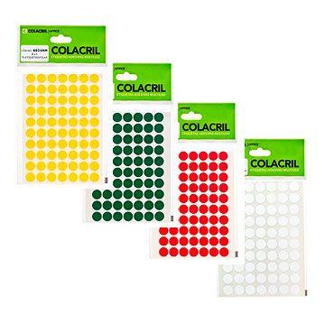 Etiqueta redonda 13mm. C/420 Etiq - Colacril