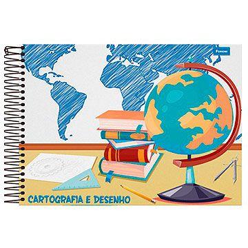 Caderno de Cartografia e Desenho Capa Dura Grade 48Fls - Foroni