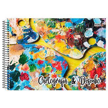 Caderno de Cartografia / Desenho Capa Dura Grade Espiral 60Fls C1 - São Domingos
