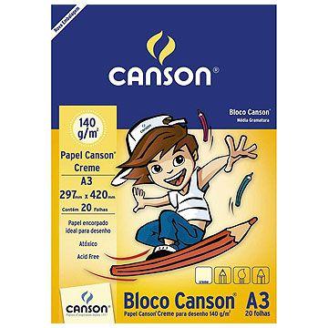 Bloco tecnico (s/ margem) Desenho A-3 140g.20fls. Creme - Fila Canson