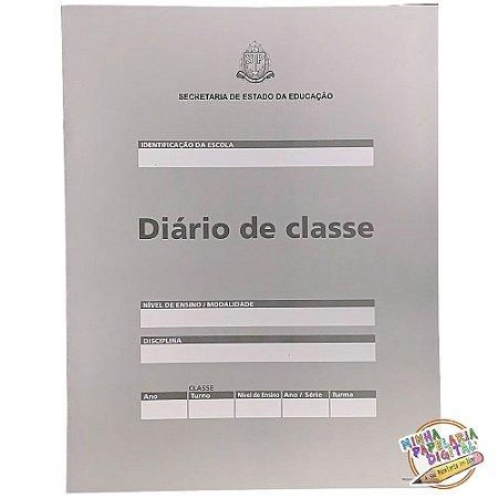Diário de classe Bimestral Estado Sao Paulo 8fl - Modelo Oficial 77 - Unica Gráfica