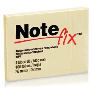 Bloco de recado autoadesivo Notefix 100fls. 76mmx102mm - 3m - Amarelo
