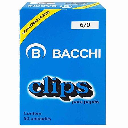 Clips galvanizado Aço 6/0 50 Unidades - Bacchi