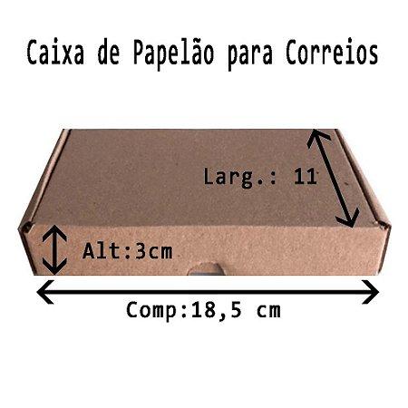CAIXA DE PAPELÃO PARA CORREIOS N.04 18,5X11X3 CM