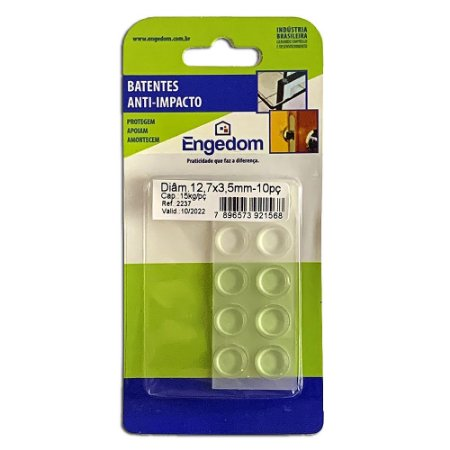 Batente Anti-Impacto PU Incolor Diam. 12,7 X 3,5mm - Engedom