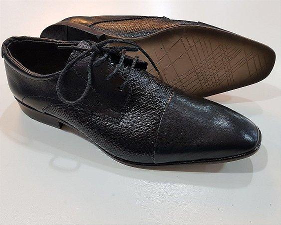 14464ab9f3 Sapato Masculino em couro modelagem italiana sapato social com ...