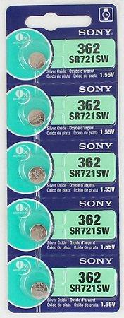 BATERIA 362/SR721SW-cartela c/5 pçs