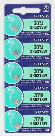 BATERIA 379/SR521SW-cartela c/5 pçsSONY,MURATA, MAXELL OU ENERGIZER